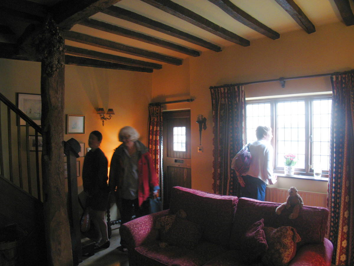 Interior of medieval house